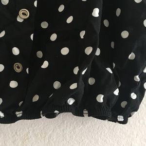 Final Touch Tops - Polkadot Cropped Cami